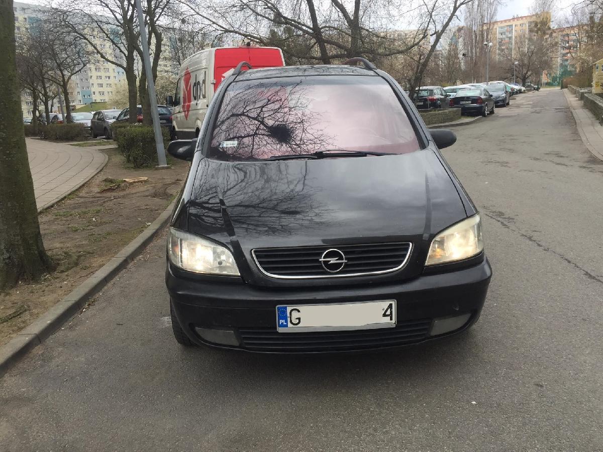Opel Zafira 2001 rok 2,0 Diesle 7 Osobowa Czarna ...